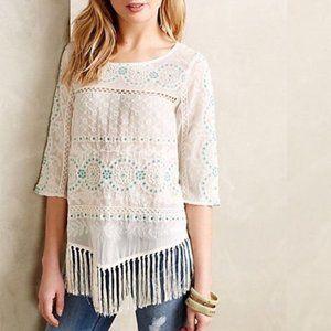 Floreat fringed blouse
